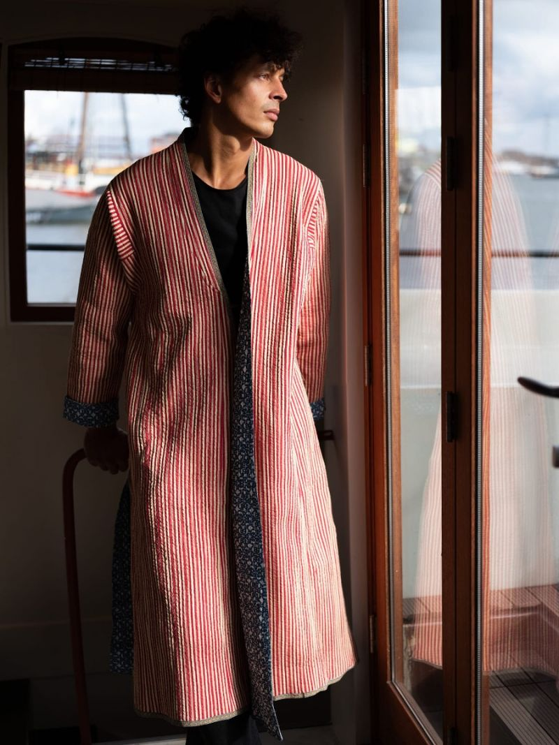 Long coat reversible for men – Seasonal Collection