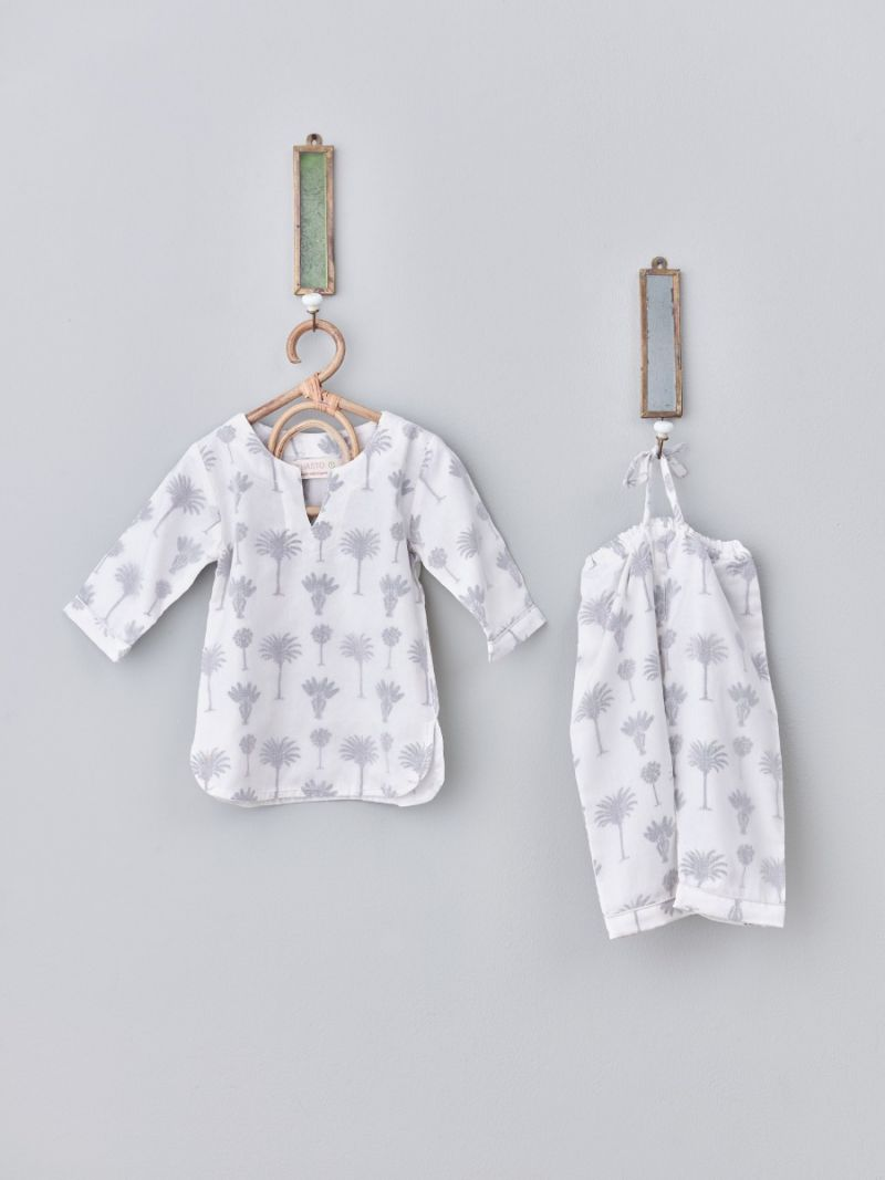 Kids Pajamas Unisex - Small Palm (Organic Cotton)