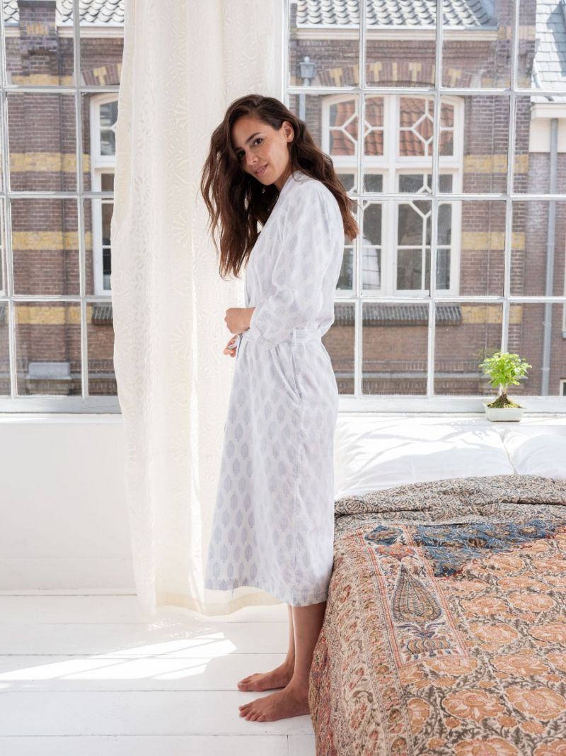 Dressing Gown - Blue Feather