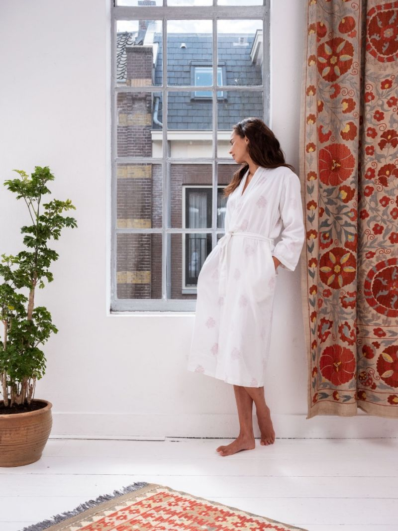 Dressing Gown - Red Flower