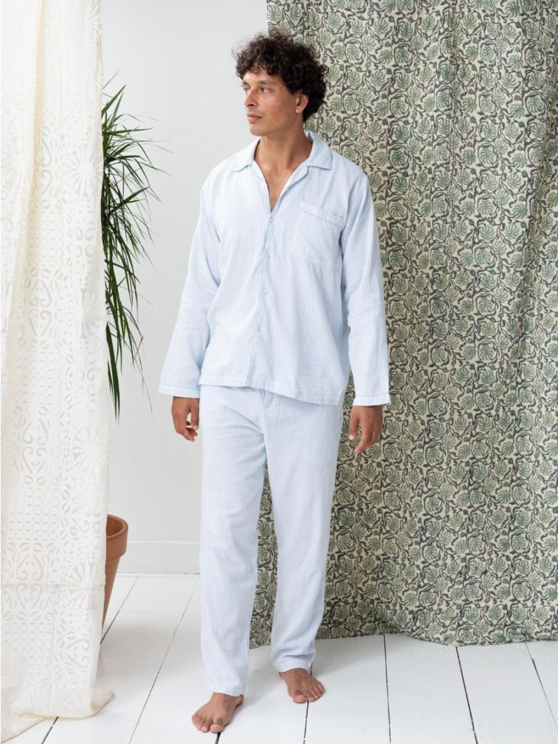 Pyjamas Blue Stripes - Organic Cotton