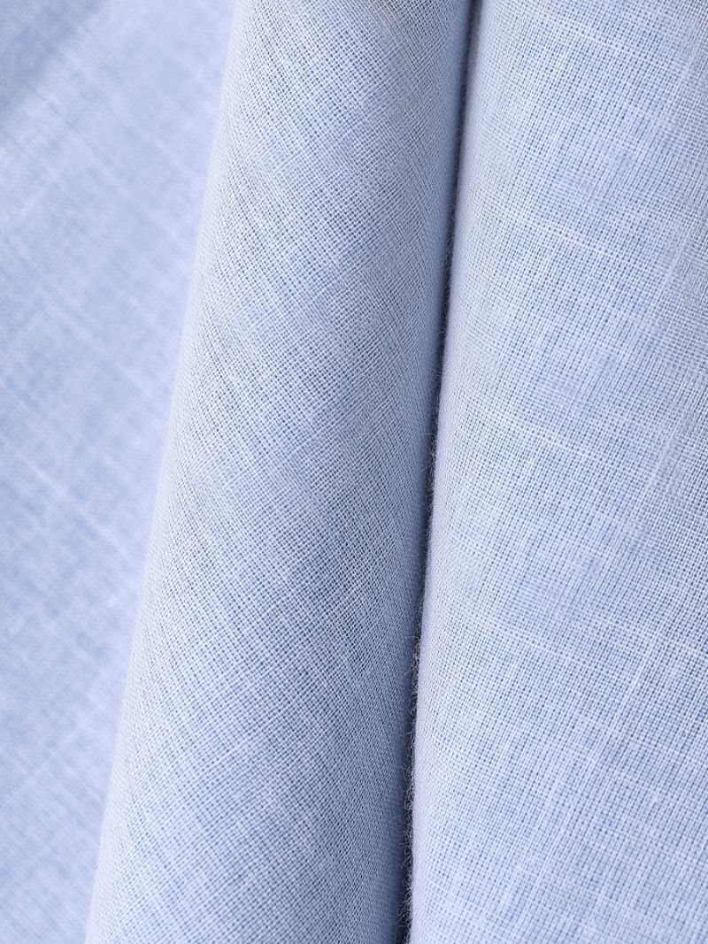 pure cotton voile in light blue