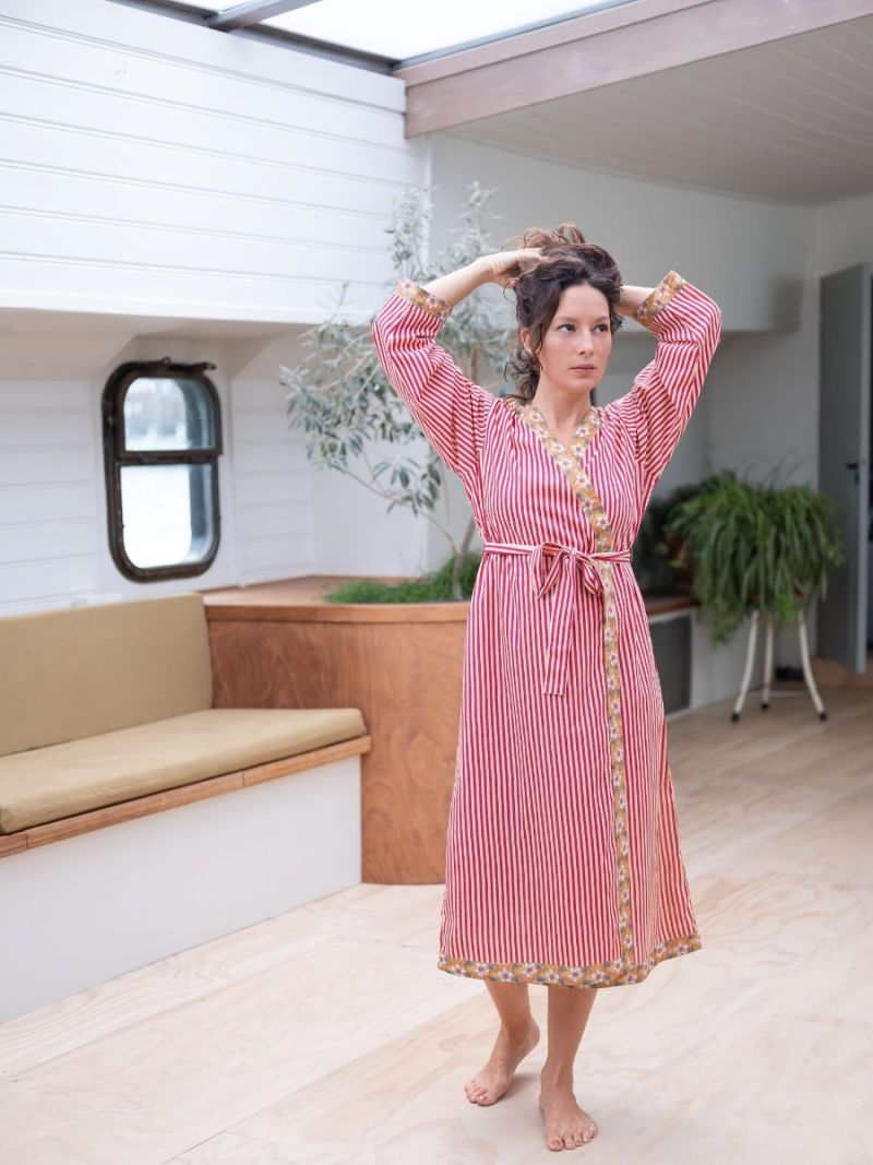 Dames ochtendjas gemaakt van 100% biologisch katoen – Zomer Collectie