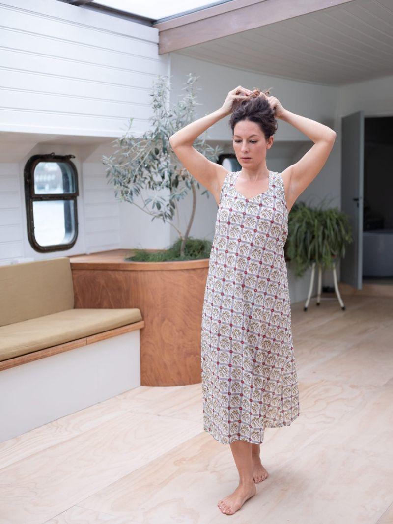 Dames nightie gemaakt van 100% biologisch katoen – Zomer Collectie