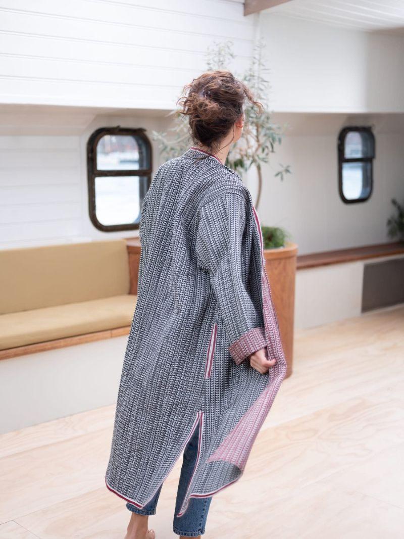 Maxi coat reversible – Seasonal Collection