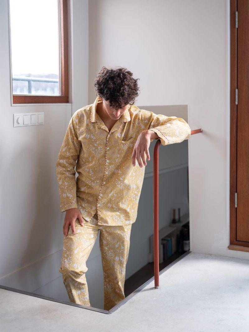Heren pyjama gemaakt van 100% biologisch katoen – Zomer Collectie