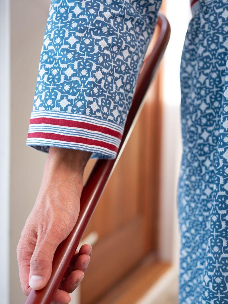 Heren ochtendjas gemaakt van 100% biologisch katoen – Zomer Collectie