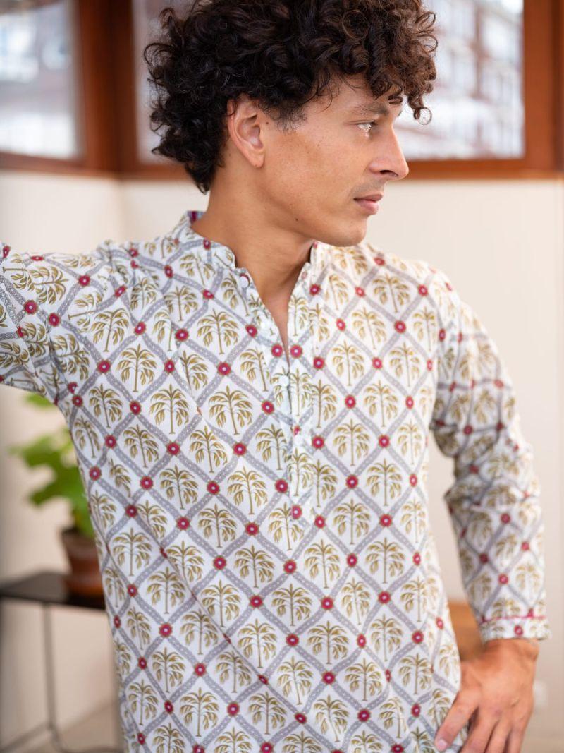 Heren nachthemd gemaakt van 100% biologisch katoen – Zomer Collectie