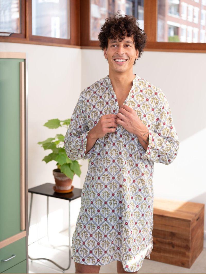 Men's nightshirt made of 100% organic cotton – Seasonal Collection