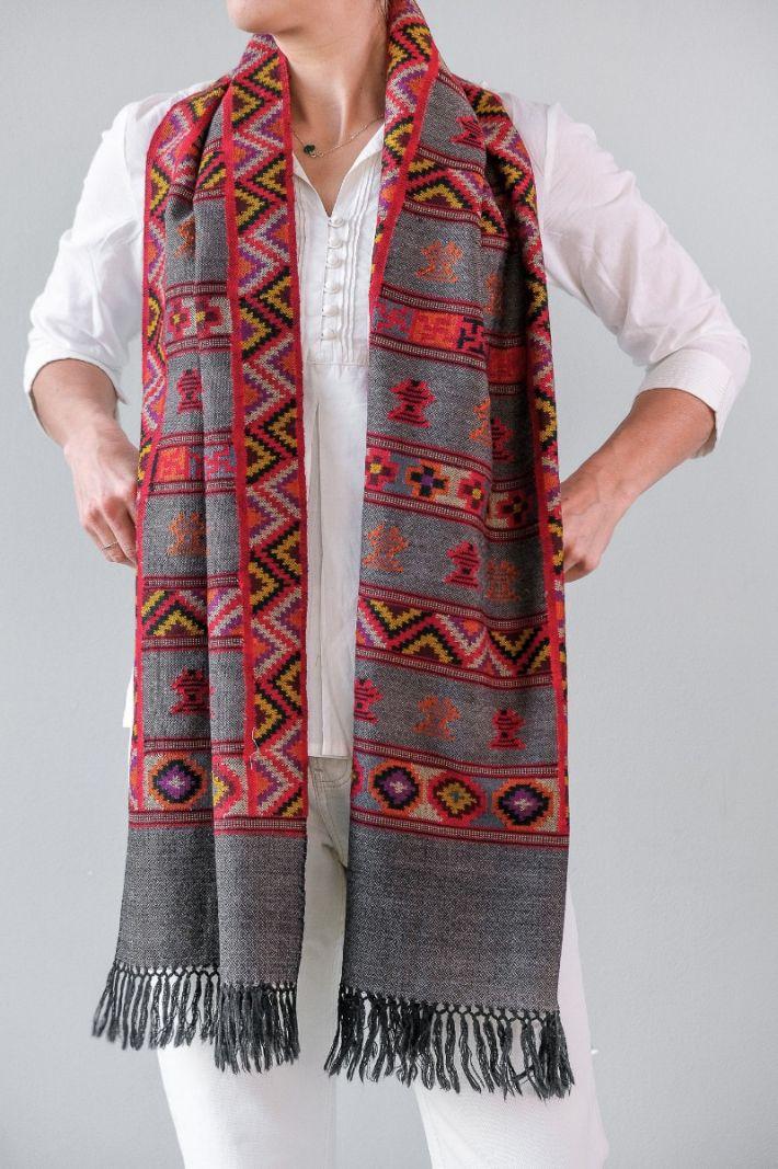 Shawl,Yak wol, handgeweven