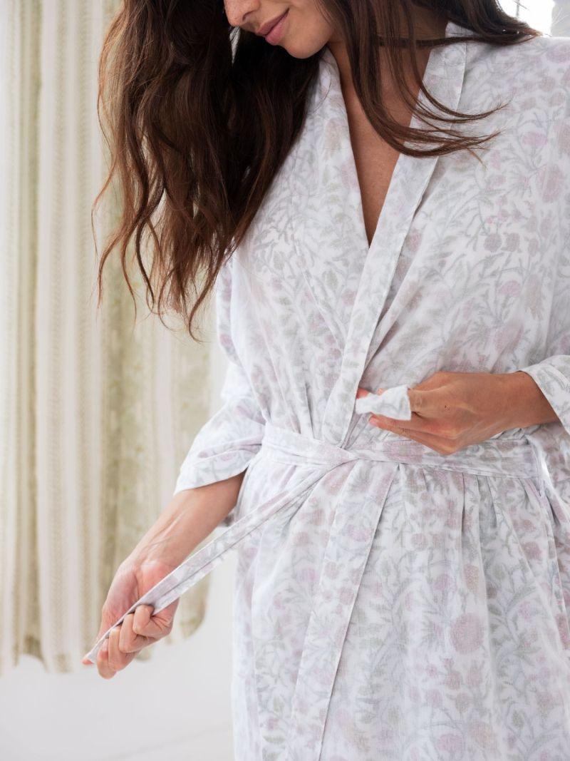 Women's Dressing Gown - Cotton Cashmere
